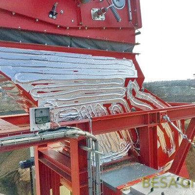Beheizung von Bauteilen mit Reglerkasten