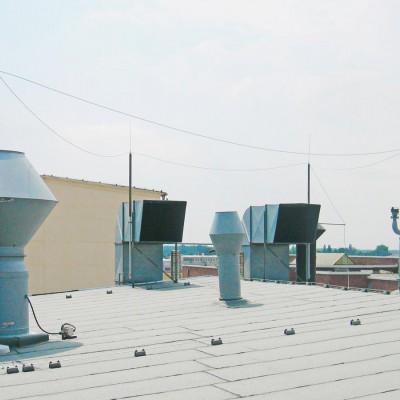 Blitzschutzanlage mit Schutzraum
