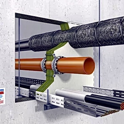 Brandschutzschott für Rohre und Kabel