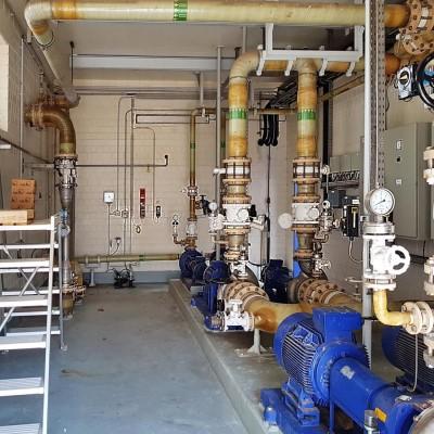 Wartung und Instandhaltung Pumpenstation